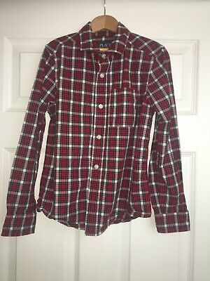 The Childrens Place Boys Plaid Long Sleeve Button Up Shirt Size 7/8