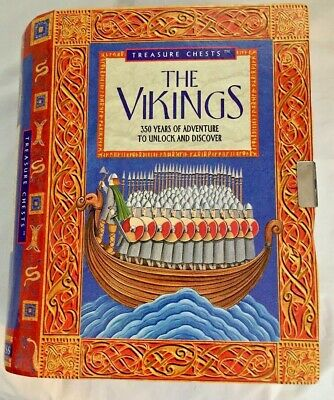 """Treasure Chests """"The Vikings"""" History Kit of Discovery & Adventure.. Very Nice"""