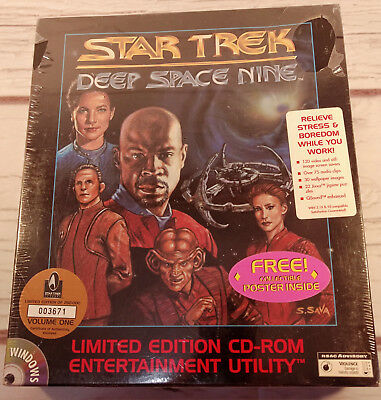 Star Trek Deep Space Nine Limited Edition CD-ROM Entertainment Utility Poster 96