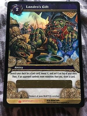WoW TCG Loot Card Landro's Gift Wrathgate Unscratched, chance for spectral tiger