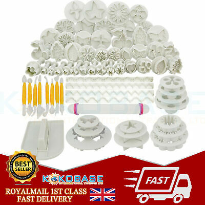 68pcs Cake Cutters Tools Mold Mould Decorating Fondant Sugarcraft Icing Plunger