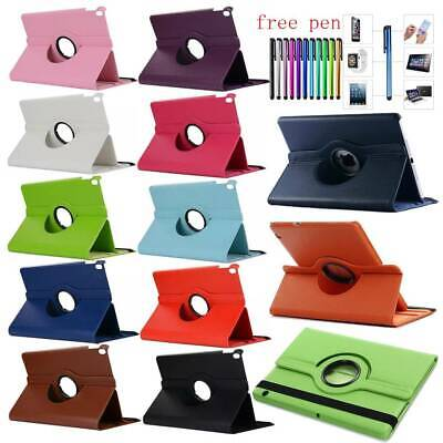 For Samsung Galaxy Tab A S5e 10.5 8.0 10.1 2019 PU Leather 360 Rotate Case Cover