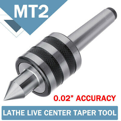 903131 MT2 0.02'' Rotary Lathe Live Milling Center Turning Morse Taper Silver