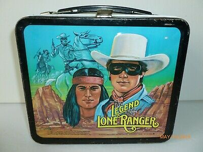 1980 Vintage THE LEGEND of the LONE RANGER Metal LUNCH BOX