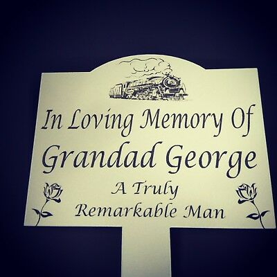 Memorial Plaque Stake Custom image personalised Grave marker EXAMPLE PICTURE