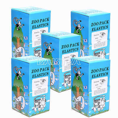 "UK 5X Dental Orthodontic Elastics Rabbit Force 3.5 OZ,3/16"" Zoo Pack 5000PCS/Box"
