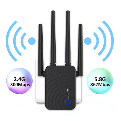 1200Mbps Wireless 2.4G/5.8G Wifi Router Dual Band Repeater Amplifier Extender