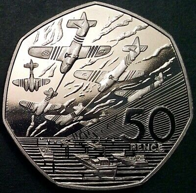 Choice 1994 50p Commemorating The 50th Anniversary Of The D-Day Landings. PROOF.