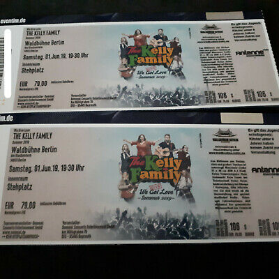 2 Front of Stage Tickets Kelly Family 1.6.2019 Berlin