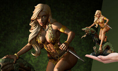 10'' Dynamite Entertainment Queen of the Jungle Sheena Resin Statue New IO