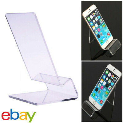1X Acrylic Mobile Phone Display Stand Mount Holder Rack Bracket Show Stands NEW