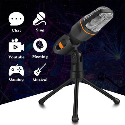 3.5mm Jack Condenser Recording Microphone with Mic Stand for  PC Laptop AU