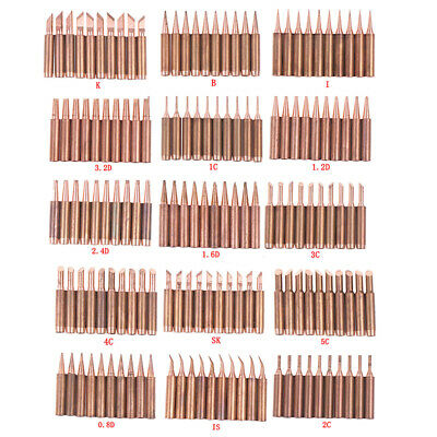 10pcs/lot 900M-T-K Diamagnetic copper soldering iron tip Lead-free Solder tip MC
