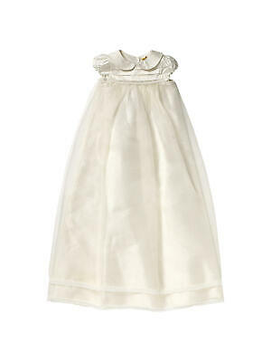 John Lewis Baby Pintuck Long Christening Gown/ Cream 0-3 Months Brand New RRP65£