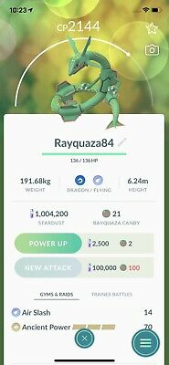 pokemon go legendary Rayquaza