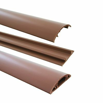 Floor Cable Channel 1m Self-Adhesive 40mm Wide Brown