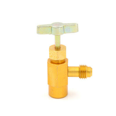 """R-134 AC R-134a Refrigerant Tap Can Dispensing 1/2"""" ACME Thread Valve Hand To RD"""