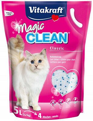 PTD Vitakraft Magic Clean Cat Litter - Silicone 5ltr (Pack of 12)