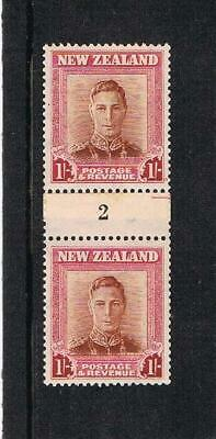 new zealand GVI 1/- coil pair No.2 U/M