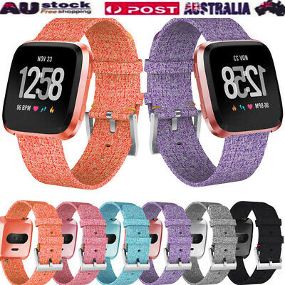 Luxury Woven Fabric Replacement Watch band Wrist Straps For Fitbit Versa Lite AU
