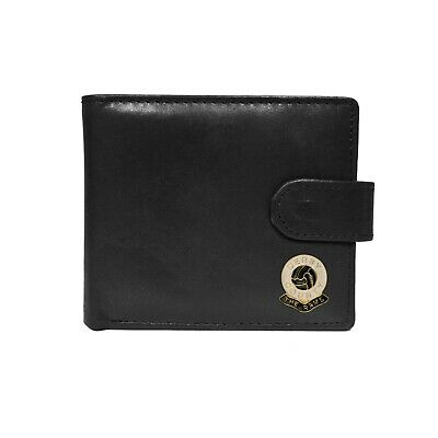 Derby County football club black leather wallet with coin pocket, new in box