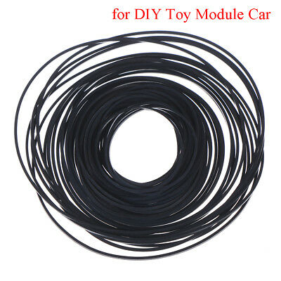Rubber pulley transmission engine drive round belt for toy module car motor *RD