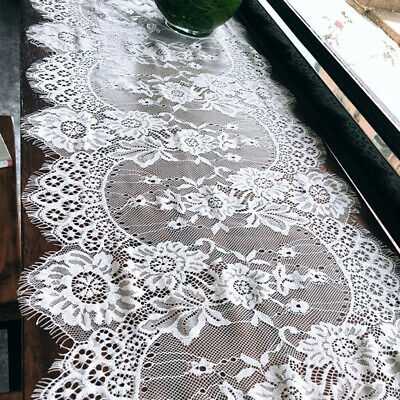 Wedding Table Runner Crochet Hollow Lace Polyester Desktop Rectangle Cover 6A