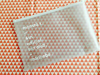Monsta X monbebe 4th fanclub goods vinyl bag only