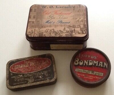 Lot: Three Old Tins ( two of vintage age ) - Pre-Owned Collectable.