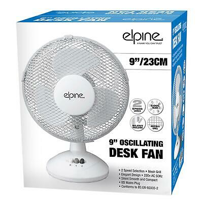 "3 Pin Plug Fan Elegant Design Oscillating 2 Speeds 9"" Clip on Desk Fan Table"