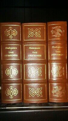Complete Works of Shakespeare Easton press Comedies Tragedies Histories leather