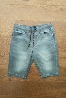 NEXT Boys Charcoal Grey Faded Distressed Stretch Denim Jean Shorts Size 12 Years