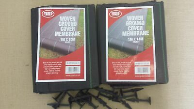 Yuzet 1m x28m 80 pegs weed control fabric ground cover membrane landscape mulch