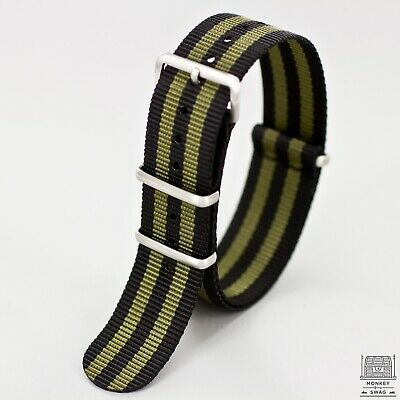 MKS © Olive Bond Nylon Nato Watch Strap