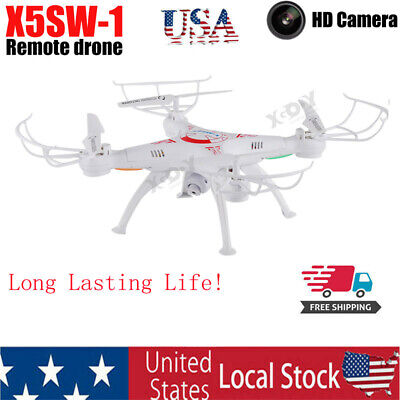 X5SW Drone 1080P HD Selfie Camera WiFi FPV Foldable Arm RC Quadcopter Toy US