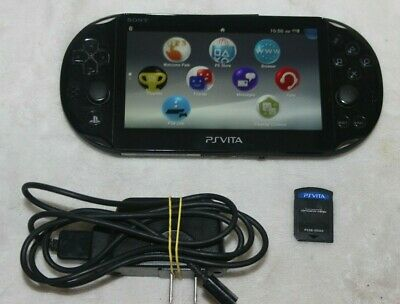 Sony PS Vita PCH-2001 Black WITH 8GB MEMORY CARD & AMAZING SPIDER-MAN GAME