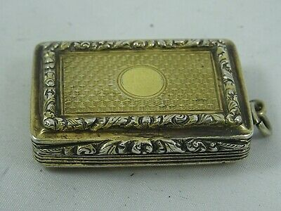 STUNNING WILLIAM IV silver gilt VINAIGRETTE, 1831, 19gm