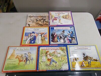 7 If You Lived Traveled Grew Up Scholastic Washington Wagon American Colonial
