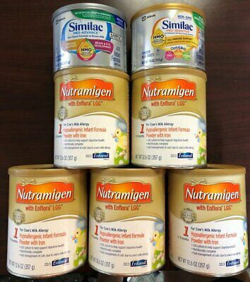 Nutramigen With Enflora LGG Formula 12.6 ounce 5 Cans Sililac 8oz Pro Advance