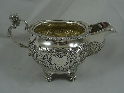 IRISH, GEORGE IV solid silver MILK JUG, 1821, 220gm