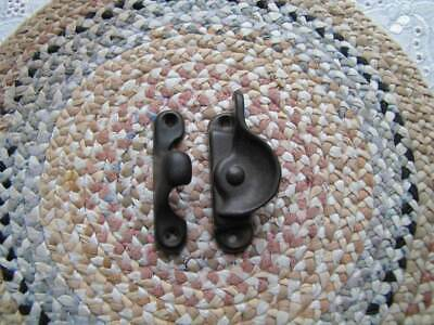 Older Vintage Aged Brass Crescent Window Sash Lock Latch ~ Hardware