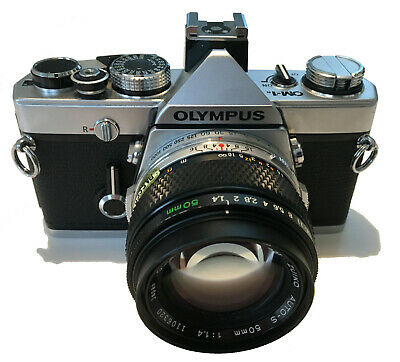 Olympus OM1n MD 35mm SLR Camera + Zuiko 50mm F1:4 - Very Good Condition