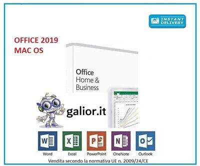 Microsoft Office 2019Home & Business 32/64 bit per MAC - Fatturabile -Originale