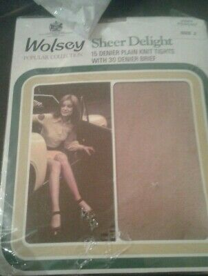 Wolsey Sheer Delight 15 Denier Plain Knit Tights  With 30 Denier Brief