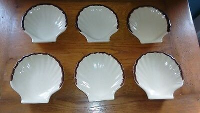 Lot De 6 Coquilles Saint Jacques  Emile Henry Excellent Etat