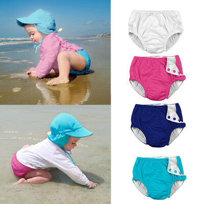 Baby&Toddler Girl Girls Solid Snap Reusable Absorbent Swimming Nappies Diaper CA