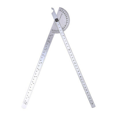 Stainless Steel 180 Degree Protractor Angle Finder Rotary Woodworking A4C4