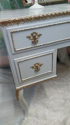 Antique Vintage 1960s French Louis Style Marie Antoinette Dressing Table
