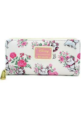 NEW Loungefly X Disney The Aristocats Marie Floral Zip Wallet - SALE