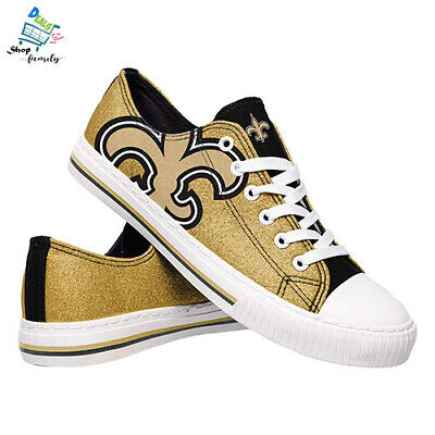 FOCO NFL Womens Glitter Low Top Canvas Shoes NEW Size 7/M